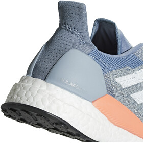 adidas SolarBoost Running Shoes Women Raw Grey/White/Chalk Coral